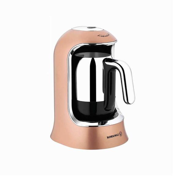 KORKMAZ - A860 Rosegold Chrome Turkish Coffee Machine