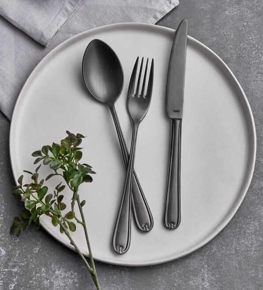 NARIN - Anatolia Matt Anthracite 18pc / 42pc Cutlery Set