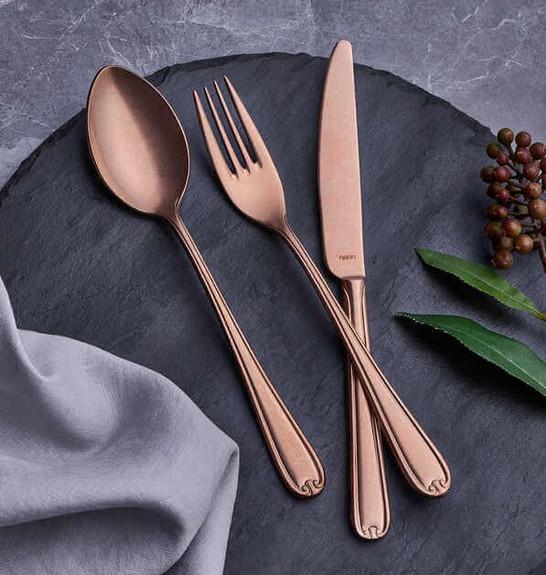 NARIN - Anatolia Matt Copper 18pc / 42pc Cutlery Set