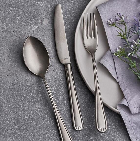 NARIN - Anatolia Matt Silver 18pc / 42pc Cutlery Set