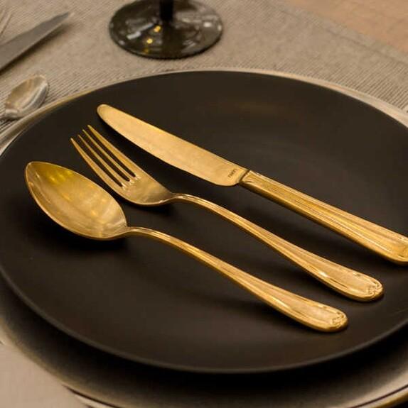 NARIN - Anatolia Retro Gold 18pc / 42pc Cutlery Set