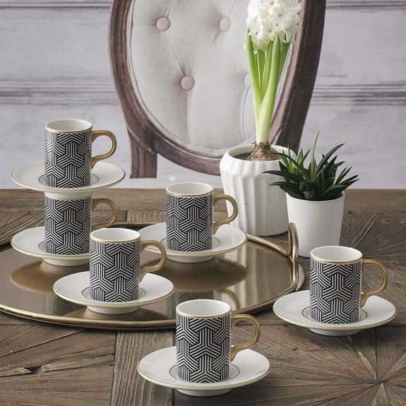 GURAL - Atina 02 6-Person Turkish Coffee Set