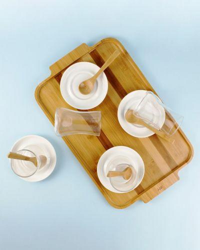 .Azar 19pc Turkish Tea Set w/Tray