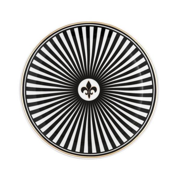 ZM DECOR - Black Love 6pc Breakfast Plate Set 23cm