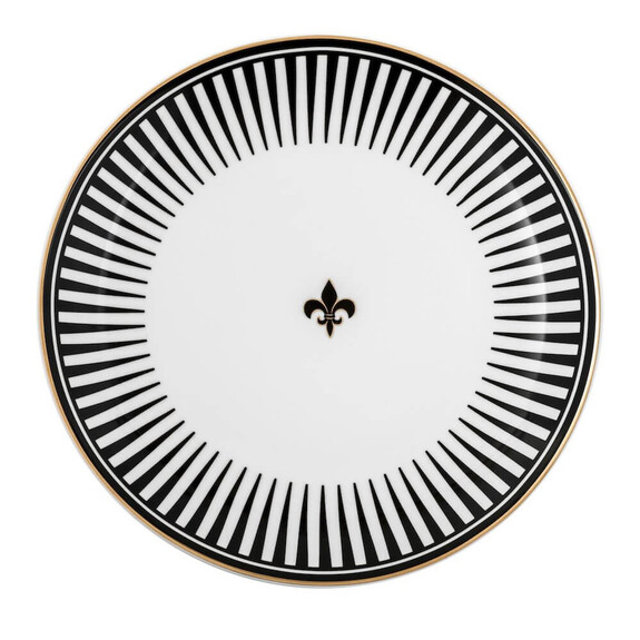 ZM DECOR - Black Love 6pc Dinner Plate Set 28cm