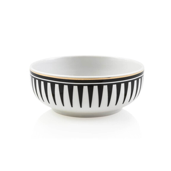 ZM DECOR - Black Love 6pc Pasta Bowl Set 16cm
