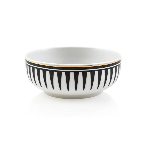ZM DECOR - Black Love 6pc Food Bowl Set 18cm