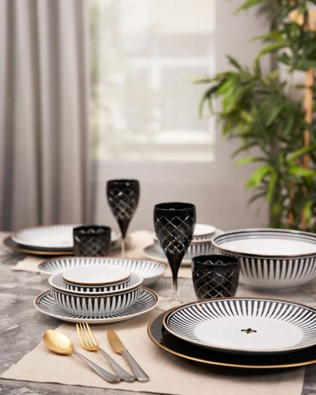 Black Love Oval Serving Dish 30cm - Thumbnail