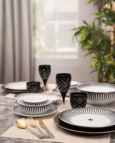Black Love Oval Serving Dish 30cm