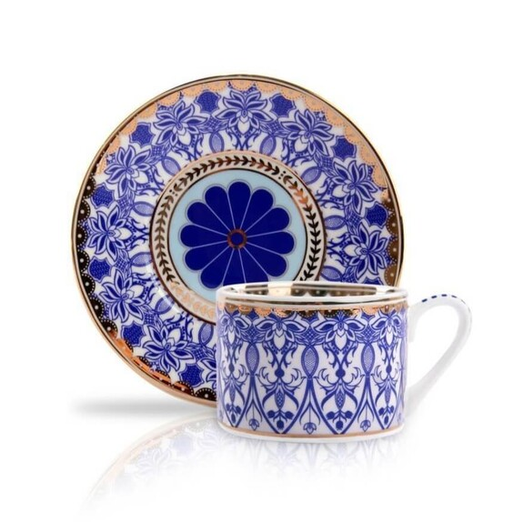 MIKASA MOOR - ''Blue Dream 6-Person Turkish Coffee Set