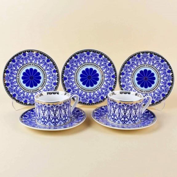 ''Blue Dream 6-Person Turkish Coffee Set - Thumbnail