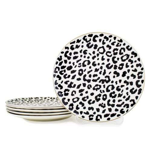 Bonita Black 6pc Dinner Plate Set 27cm