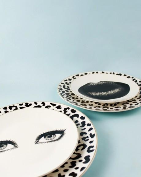 Bonita Black 6pc Dinner Plate Set 27cm - Thumbnail