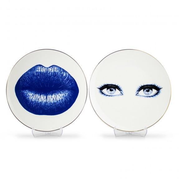 MIKASA MOOR - Bonita Blue 6pc Dessert Plate Set 21cm