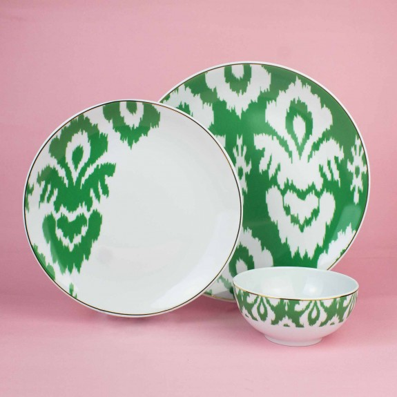 ZM DECOR - Budai Green 12pc Dinnerware Set