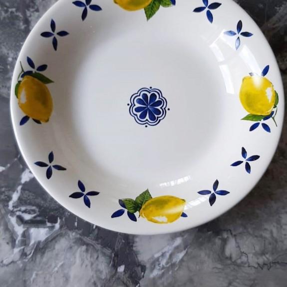 Capri 6pc Pasta Plate Set 20cm - Thumbnail