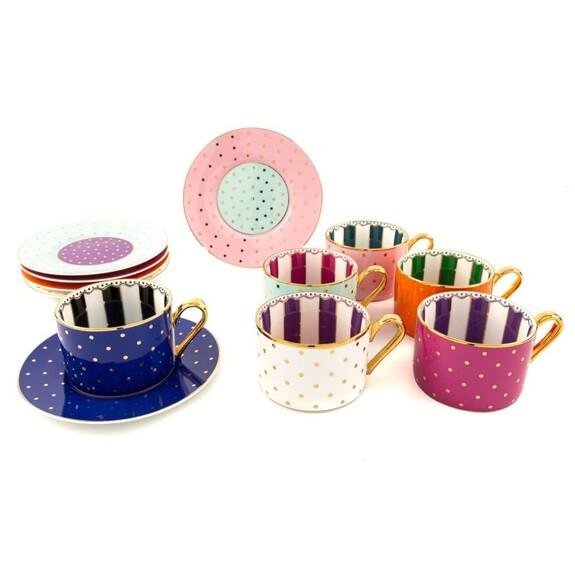 MIKASA MOOR - Cheerful 6-Person Tea/Nescafe Set