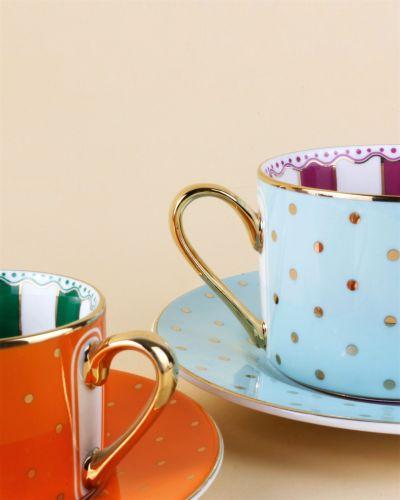 Cheerful 6-Person Turkish Coffee Set