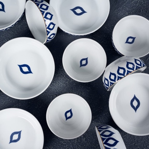 ZM DECOR - .Damla 6-Person 12pc Bowl Set