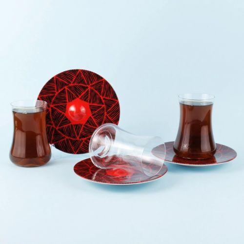.Dervish Horus 6-Person Turkish Tea Set