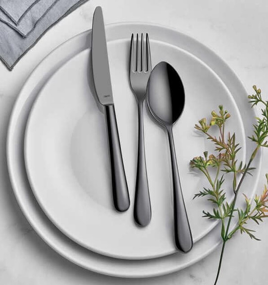 NARIN - Epsilon Anthracite 18pc / 42pc Cutlery Set