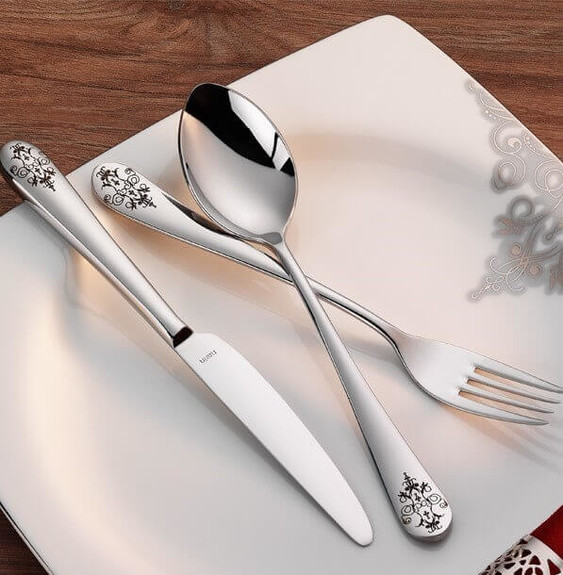 NARIN - Epsilon Matt Decorated 18pc / 42pc Cutlery Set