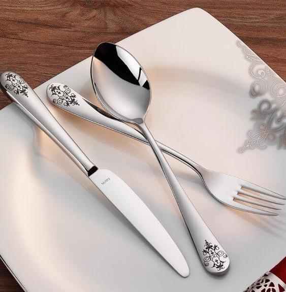 NARIN - Epsilon Matt Decorated 18pc / 42pc Cutlery Set