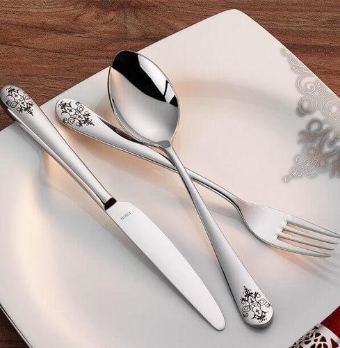 Epsilon Matt Decorated 18pc / 42pc Cutlery Set