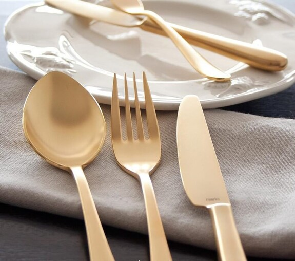 Epsilon Matt Gold 18pc / 42pc Cutlery Set - Thumbnail