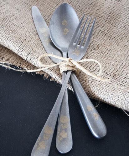 Epsilon Retro Flowery 18pc / 42pc Cutlery Set