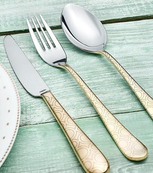 NARIN - Epsilon Roma Matt Gold 18pc / 42pc Cutlery Set
