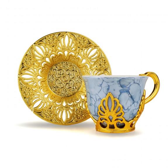 BUSEM - Goldina 6-Person Turkish/Arabic Coffee Set