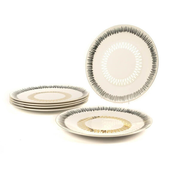 MIKASA MOOR - Grace 6pc Dinner Plate Set 27cm