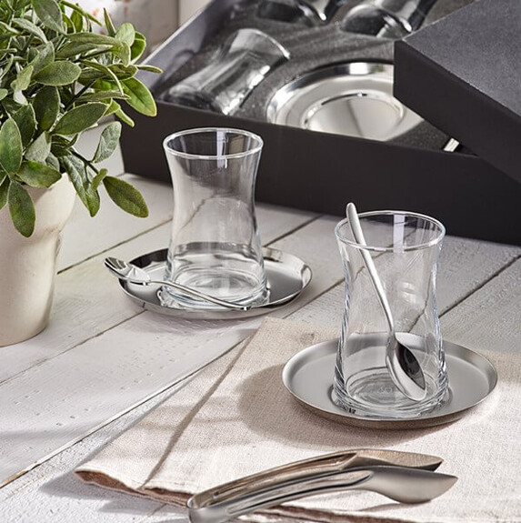 NARIN - ''Halley Basic 19pc Turkish Tea Set