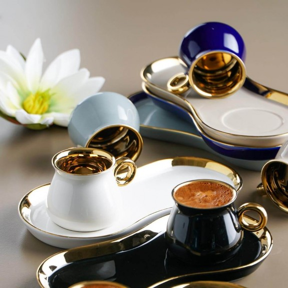 ACAR - .Herakles 6-Person Turkish Coffee Set