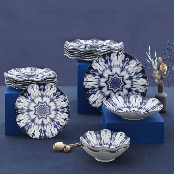 GURAL - Ice Flower 24-Piece Dinnerware Set
