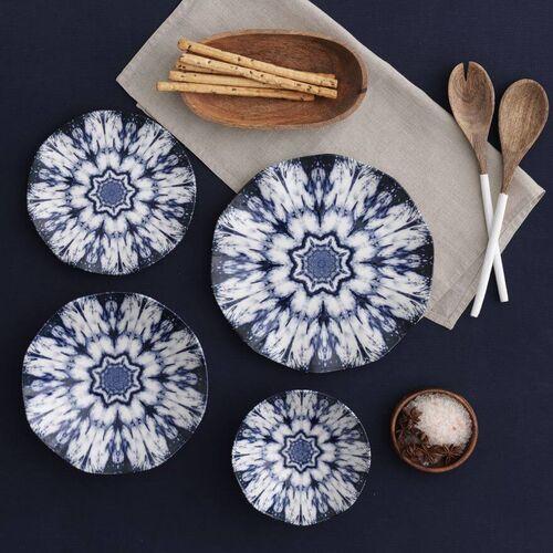 .Ice Flower 24-Piece Dinnerware Set