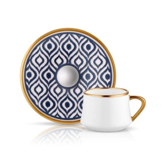 KOLEKSIYON - Ikat Anthracite 6-Person Turkish Coffee Set