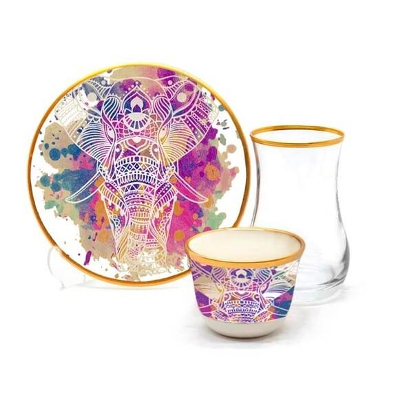 TOYGAR - India 6-Person Turkish Tea + Arabic Coffee Set