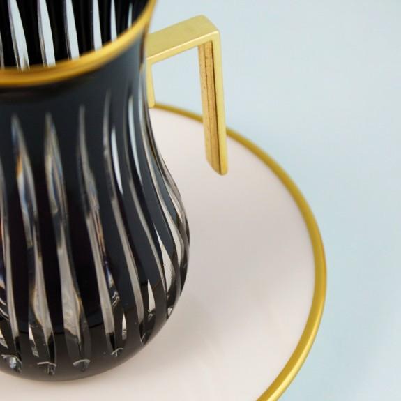 .'TG Knight Black Handle 18pc Tea + Arabic Coffee Set - Thumbnail