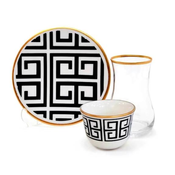TOYGAR - Labyrinth 6-Person Turkish Tea + Arabic Coffee Set