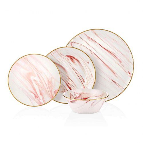 Lucida Pink 24pc Dinnerware Set