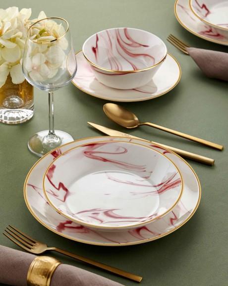 Lucida Pink 24pc Dinnerware Set - Thumbnail