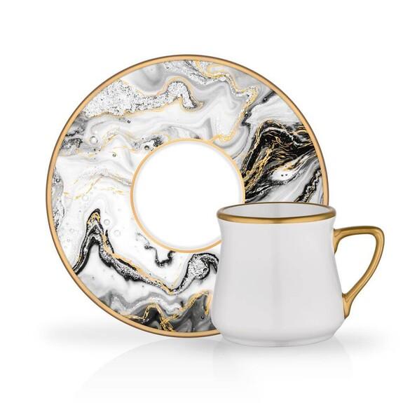 GLORE - Marble 6-Person Turkish Coffee Set