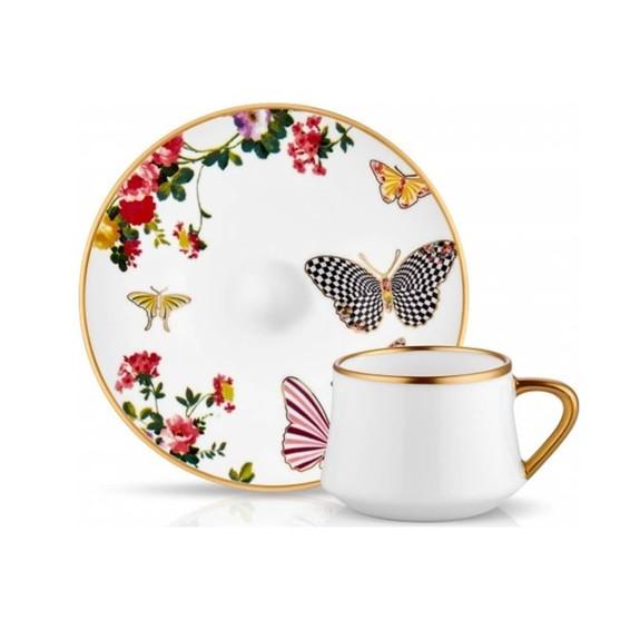 KOLEKSIYON - Mariposa 6-Person Turkish Coffee Set