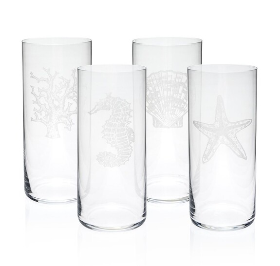 ZM DECOR - Mercan 4pc Glassware Set 445cc