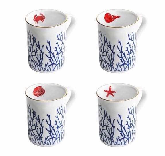Mercan 4pc Mug Set - Thumbnail