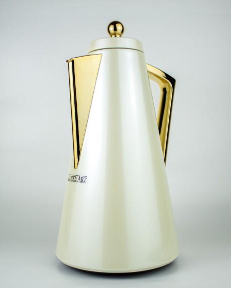 Miriam White 1 lt Thermos Flask - Thumbnail