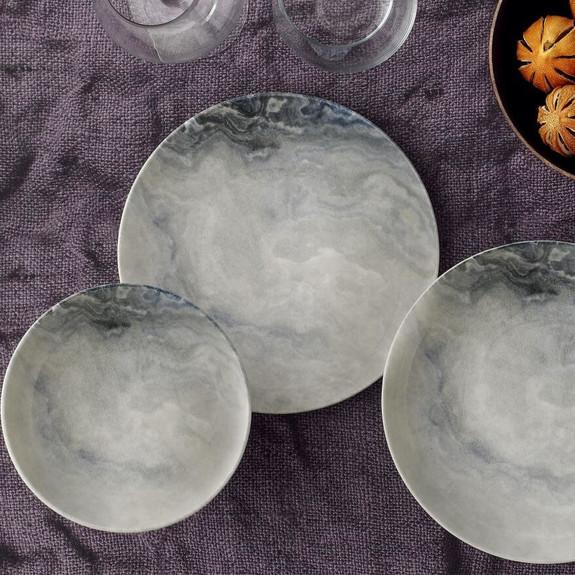 GURAL - Natural Stone 24-Piece Dinnerware Set