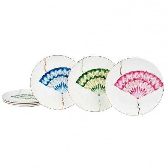 MIKASA MOOR - New Grace 6pc Dessert Plate Set 20cm